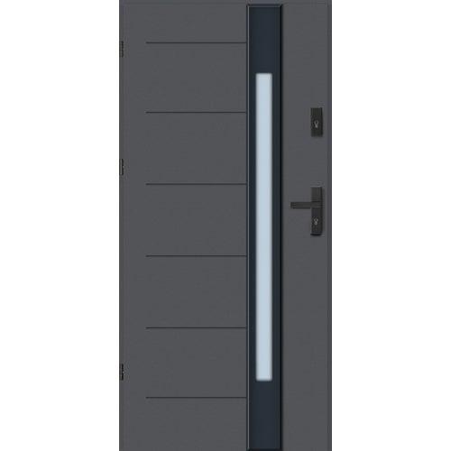 Drzwi wejściowe Lugano Nero 90 cm, lewe, antracyt