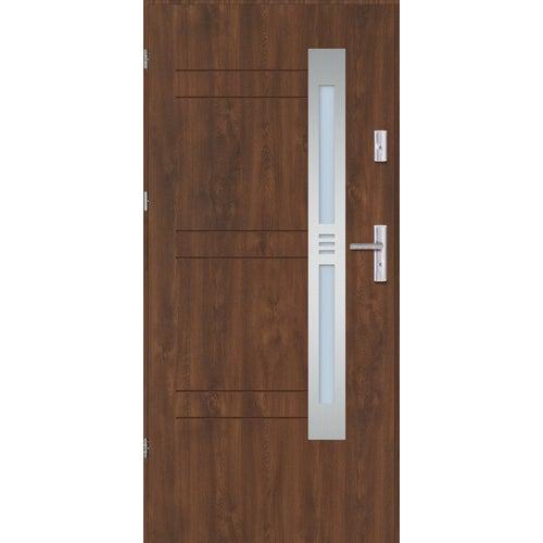 Drzwi wejściowe Alicante 90 cm, lewe, orzech