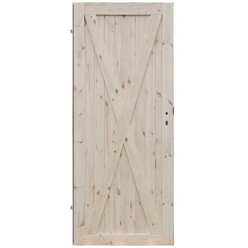 Skrzydło drzwiowe Loft X1 pełne 70 lewe surowa sosona