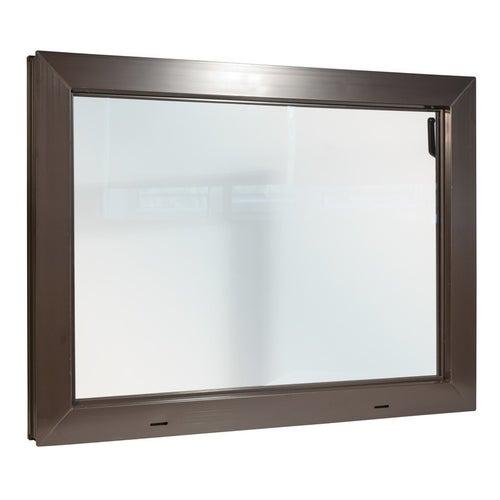 Okno gospodarcze uchylne KIPP 2000 800x600 mm brązowe