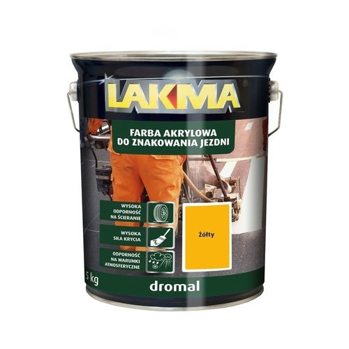 Farba do znakowania Dromal Lakma żółty 5kg