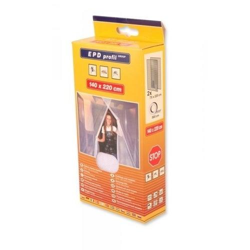 Siatka przeciw owadom do drzwi, 140x220cm, biała