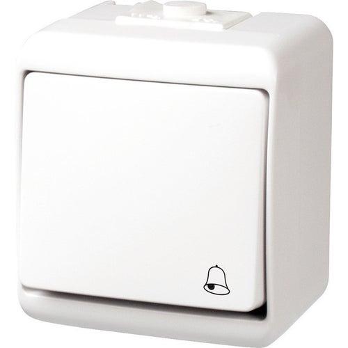 Karlik Junior biały przycisk dzwonka IP44