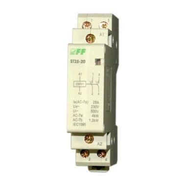 Stycznik modułowy ST25-20 25A 2 styki zwierne, cewka 230V F&F