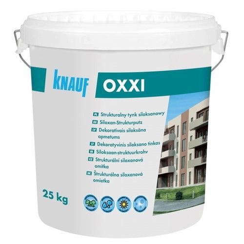 Tynk elewacyjny siloksanowy Oxxi Knauf 25 kg, 1.5 mm, biały