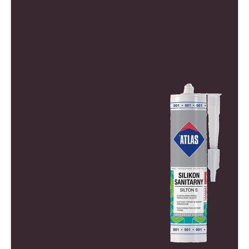 Silikon sanitarny Atlas 024 ciemnobrązowy 280 ml