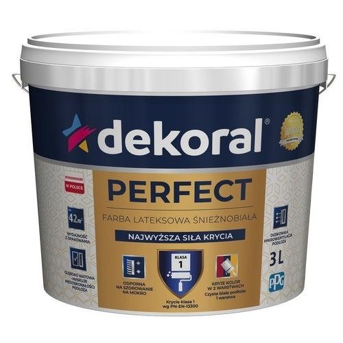 Farba Dekoral Perfect biała 3l