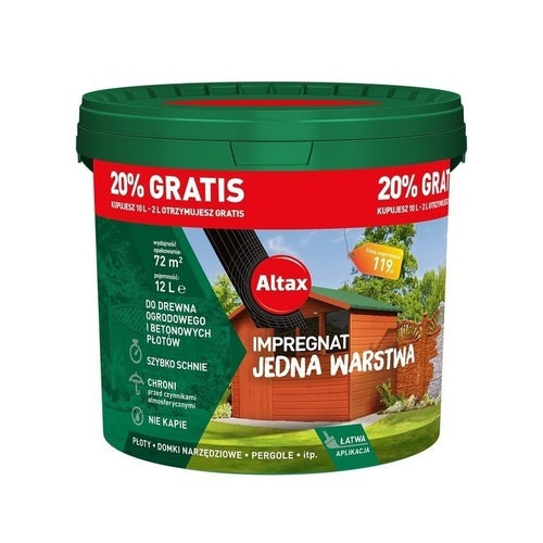 Impregnat ogrodowy Altax brąz 12l