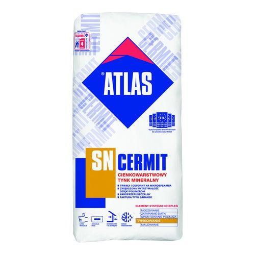 Tynk elewacyjny mineralny Atlas Cermint SN 25 kg, biały, 2 mm