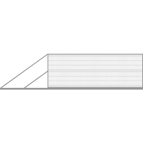 Brama ogrodzeniowa panelowa przesuwna ocynk, 150x400 cm, lewa