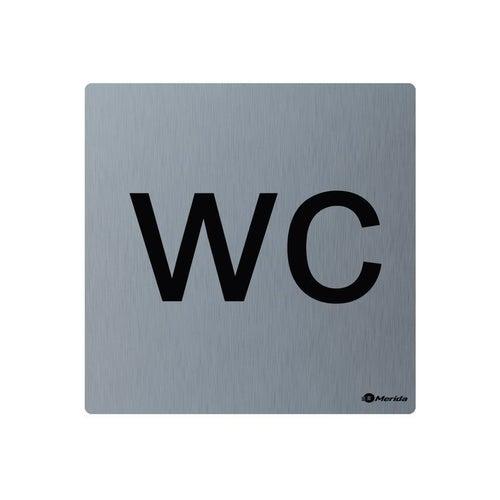 Merida piktogram ze stali nierdzewnej WC GSM012