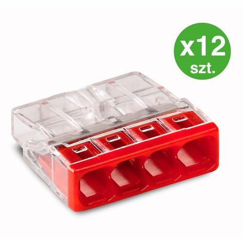 Szybkozłączka mini Wago 4x2,5mm2 12szt