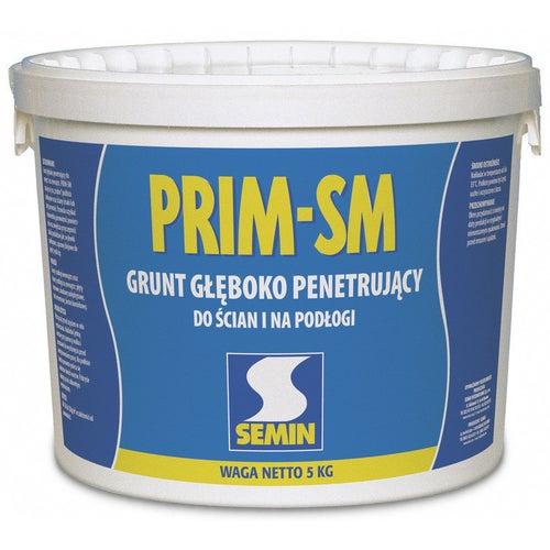 Grunt głęboko penetrujący PRIM-SM Semin do ścian i na podłogi 5 kg