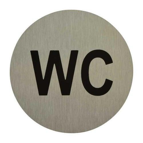Znak informacyjny WC inox 75 mm