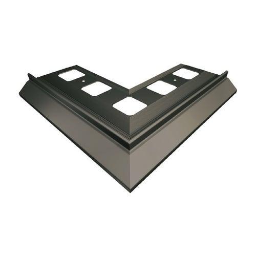 Narożnik 90° zewnętrzny grafitowy + elementy montażowe