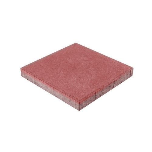 Płyta chodnikowa Bruk-Bet czerwona 35x35x5 cm gładka