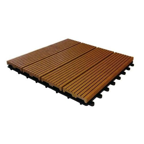 Podest tarasowy, kompozytowy, 4-lamelowy, wym. 300x300 mm, redwood