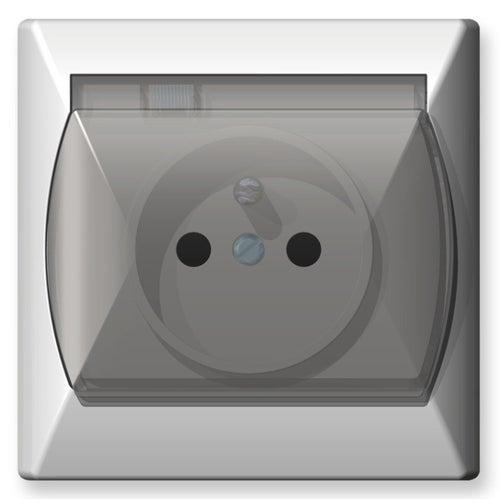Ospel Akcent biały gniazdo hermetyczne pojedyncze z uziemieniem IP44