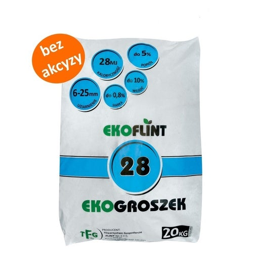 Ekogroszek Ekoflint 28 MJ 20 kg bez akcyzy