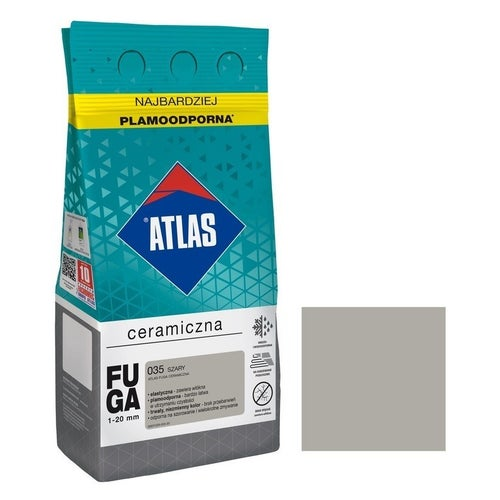 Fuga ceramiczna Atlas 035 szary 5kg