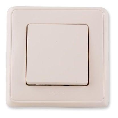 Legrand Cariva biały łącznik schodowy z ramką