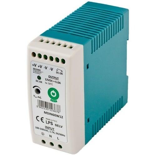 Zasilacz LED 60W 12V 5A na szynę TH35