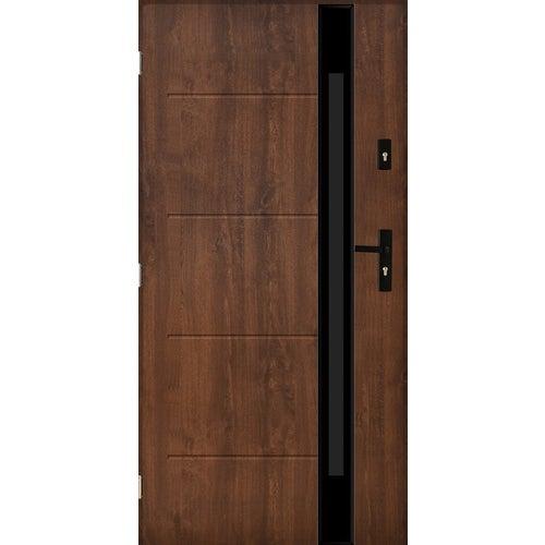 Drzwi zewnętrzne przeszklone Rzym 90 cm lewe orzech