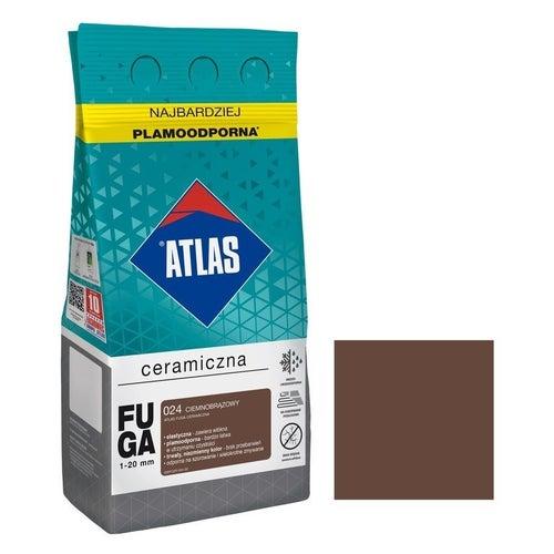 Fuga ceramiczna Atlas 024 ciemnobrązowy 5kg
