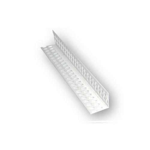 Narożnik PCV perforowany 23x23 mm 2.5 m