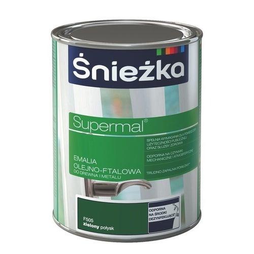 Emalia olejno-ftalowa Śnieżka Supermal zielony 5l