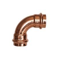 Woda Łuk 90° dwukielichowy 15 mm