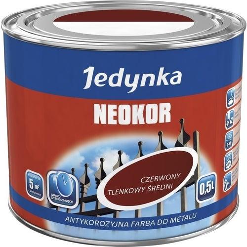 Farba antykorozyjna Jedynka Neokor czerwony tlenkowy 0,5l