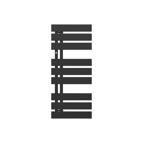 Grzejnik łazienkowy Nameless 90x40 cm, czarny matowy