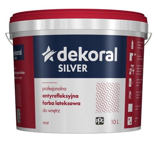 Farba antyrefleksyjna Dekoral Silver baza B 9,3 l