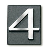 Cyfra 4 samoprzylepna grafit 4x4.7 cm