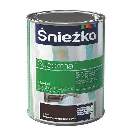 Emalia olejno-ftalowa Śnieżka Supermal brąz czekoladowy 10l