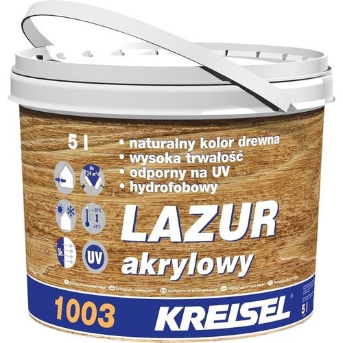 Lazur akrylowy 1003 Kreisel 5 l, ciemna orzech