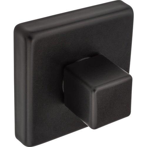 Szyld kwadratowy QUBE WC czarny mat