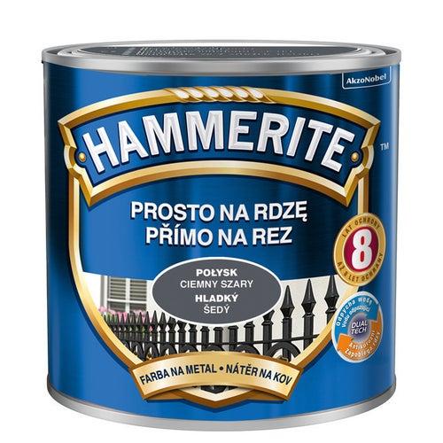 Farba Hammerite połysk ciemny szary 0,25l
