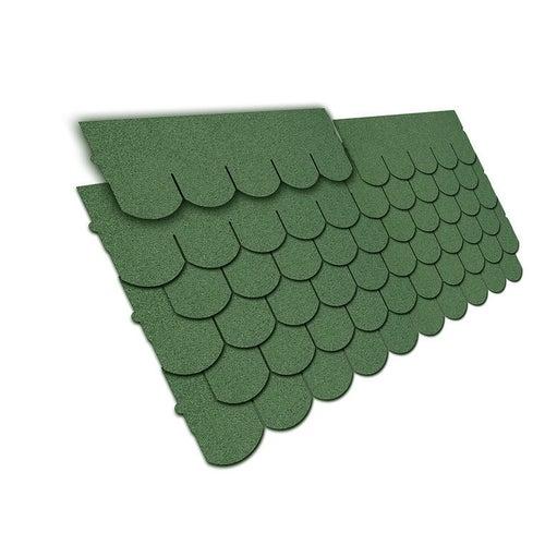 Gont bitumiczny karpiówka, zielony, 3 m2 wym. 80x32 cm