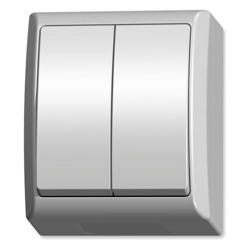 Ospel Fala biały łącznik podwójny IP44