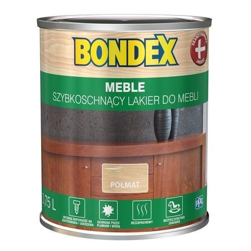 Lakier szybkoschnący Bondex Meble półmat 0,75l