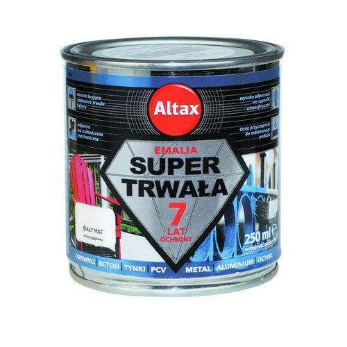 Emalia Altax Super Trwała biały mat 0,25l