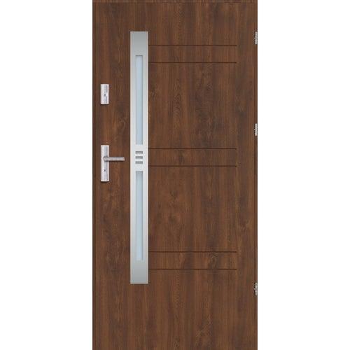 Drzwi wejściowe Nordica 3 80 prawe orzech