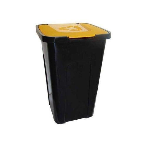 Pojemnik na śmieci 50 l do sortowania żółty