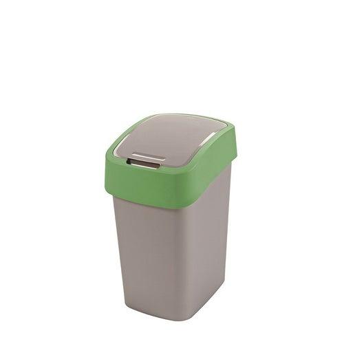 Kosz na śmieci FlIP BIN 25 l srebrny/zielony