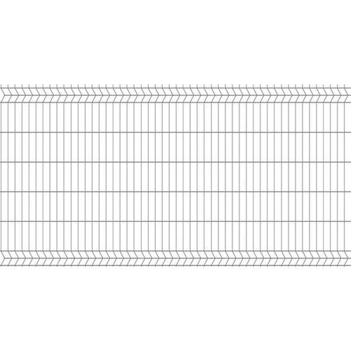 Panel ogrodzeniowy 3D ocynk, 123x250 cm, oczko 50x200 mm, drut 4 mm