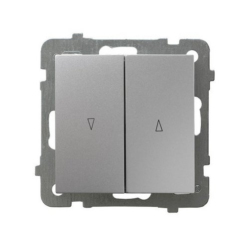 Ospel As srebrny przycisk żaluzjowy