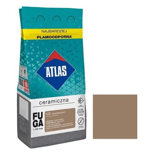 Fuga ceramiczna Atlas 123 jasnobrązowy 5kg