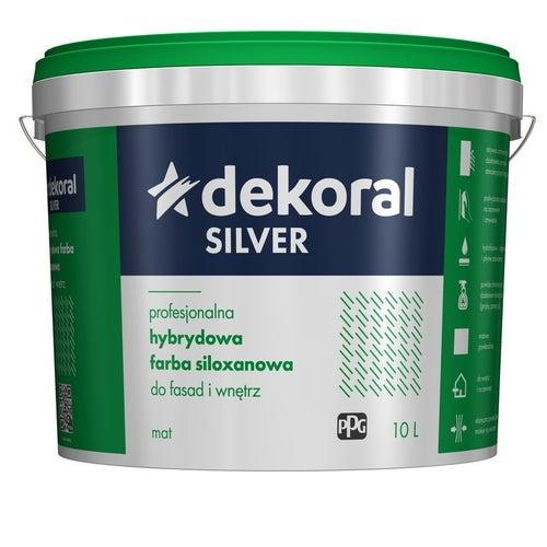Farba hybrydowo-siloxanowa Dekoral Silver baza B 9,4 l